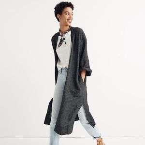 Madewell Jackets & Coats - Long robe jacket in grid pattern